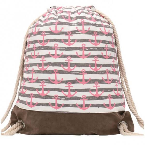 Turnbeutel kleine Anker pink 012