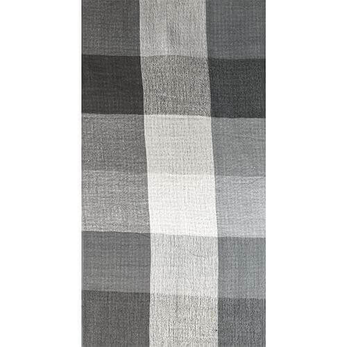 Jaquard-Schal Black Grey 057