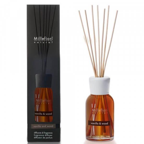 Vanilla & Wood - Natural Stick Diffuser 100ml - Millefiori