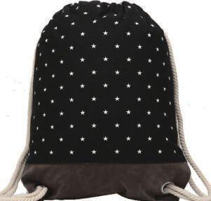 Turnbeutel 177-013-01 (kleine Sterne Black)