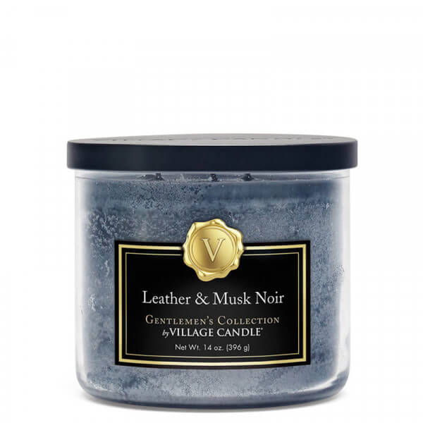 Village Candle- Leather & Musk Noir 396g