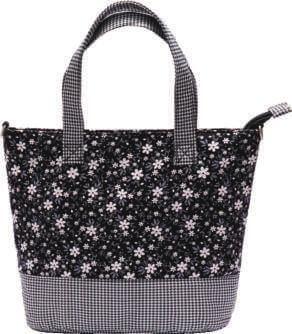 Patchwork Handtasche 177-66 (Black Flowers)
