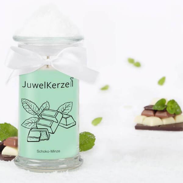 Schoko-Minze 380g - Halskette Juwelkerze