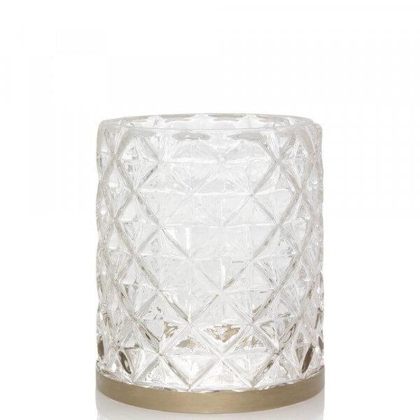 Langham - Jar Sleeve strukturiertes Glas mit Metallband - von Yankee Candle