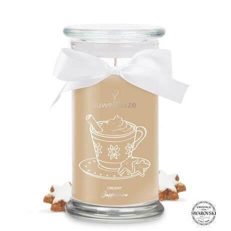Creamy Cappuccino (Ring) 400g mit Ring von Juwel Kerze