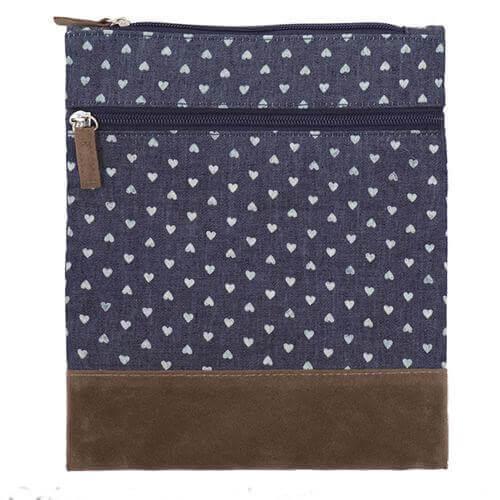 Canvas Crossbag 020 (Denim Heart)