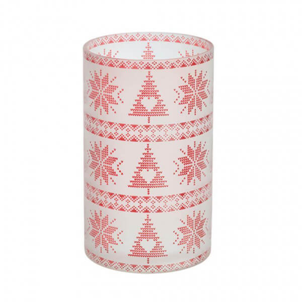 Red Nordic Frosted Glass Jar Sleeve