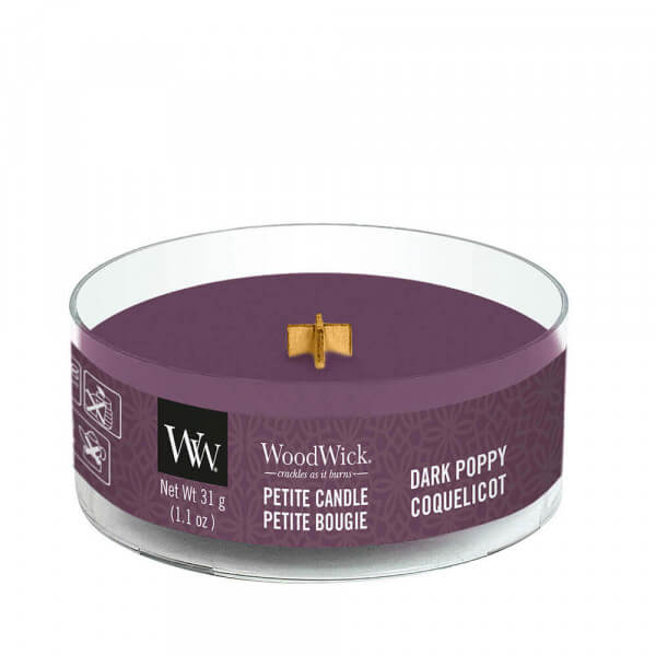 Dark Poppy Petite Candle 31g von Woodwick