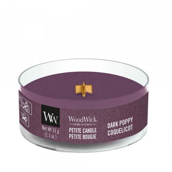 Dark Poppy Petite Candle 31g von Woodwick