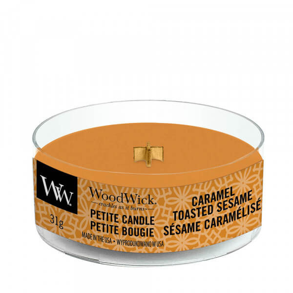 Caramel Toasted Sesame Petite Candle 31g von Woodwick