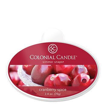 Colonial Candle Cranberry Spice Simmer Snaps 70g