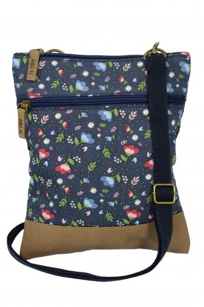 Crossbag Floral blau 201