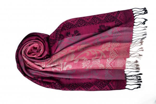Jacquard Schal Acelya pink 154