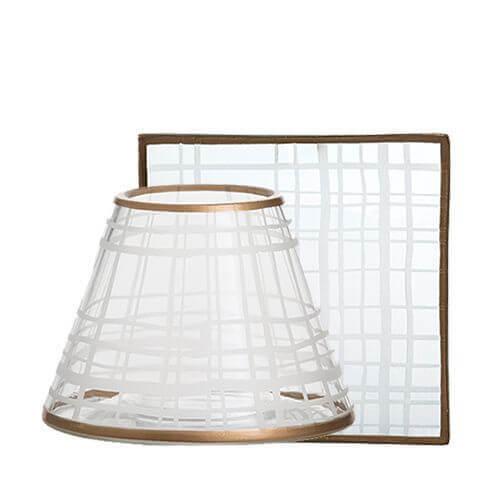 Copper Elegance Lampenschirm und Tellerset klein