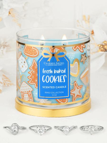 Fresh Baked Cookies Kerze (Ring)