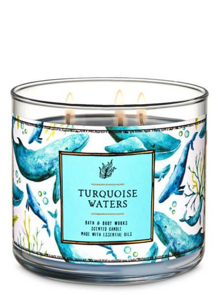 3-Docht Kerze - Turquoise Waters - 411g