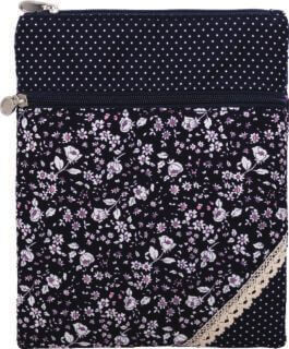 Patchwork Crossbag 177-045 (Navy Flowers)