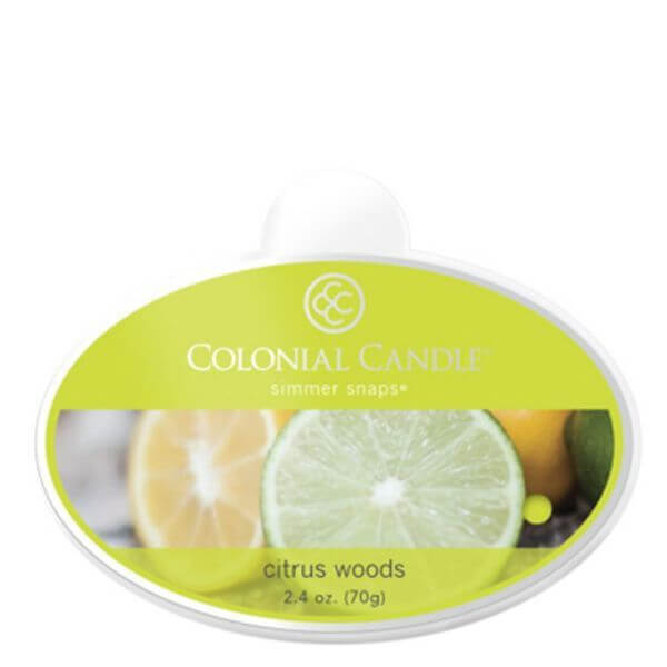 Colonial Candle Citrus Woods Simmer Snaps 70g