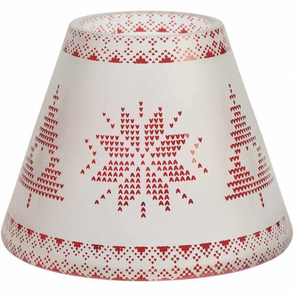 Red Nordic Frosted Glass - Kleiner Schirm & Teller