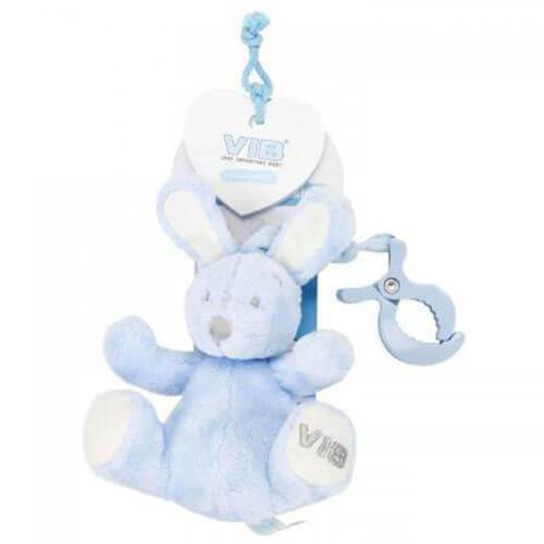 Rabbit Blau Sitzend mit Clip