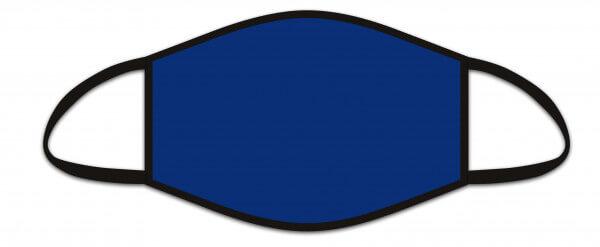 Mund-Nasen-Maske Blau uni