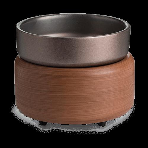 Candle Warmers Pewter Walnut 2-in-1 Classic Duftlampe braun elektrisch