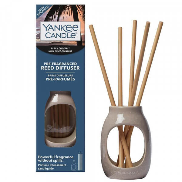 Pre Fragranced Reed Kit - Embossed Black Coconut