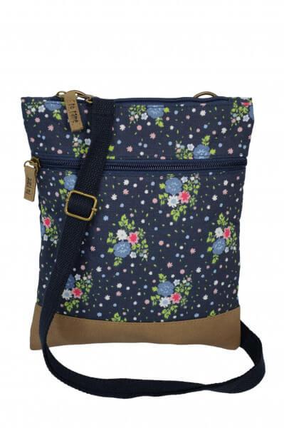 Crossbag Flowers blau 201