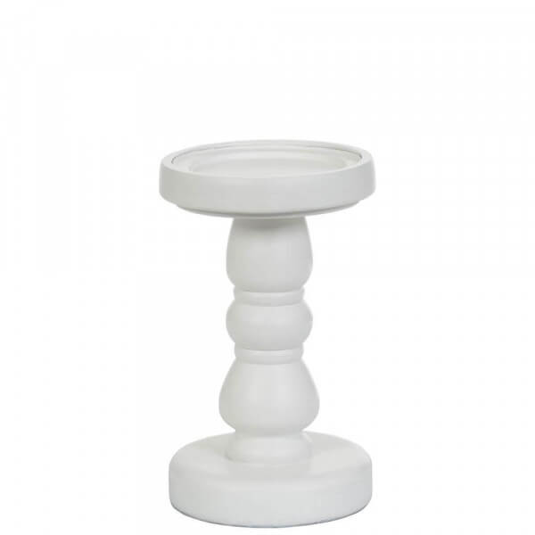 Yankee Candle White Wood Candle Stands mittel