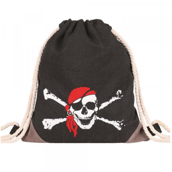 Kinder Turnbeutel 225-013 (Black Pirate)