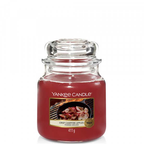 Crisp Campfire Apples 411g mittlere Kerzen von Yankee Candle