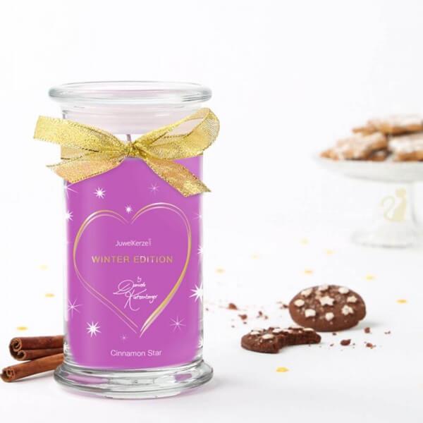 JuwelKerze Cinnamon Star mit Schmuck by Daniela Katzenberger (Armband) 380g