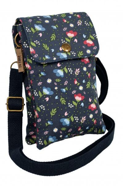 Mini Crossbag Floral blau 201