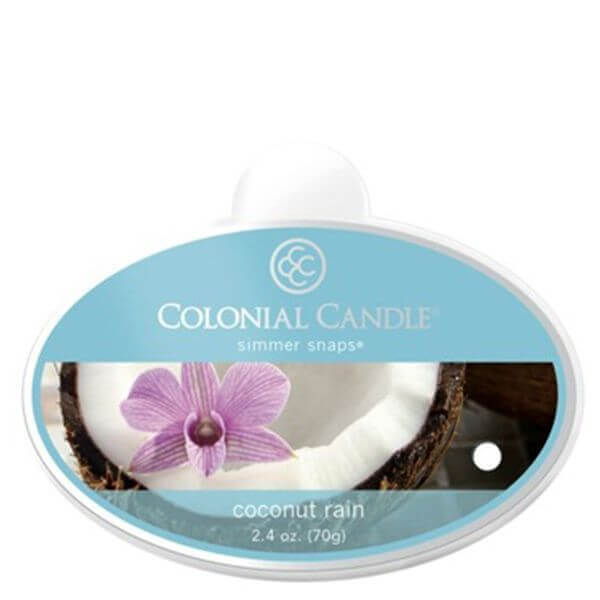 Colonial Candle Coconut Rain Simmer Snaps 70g