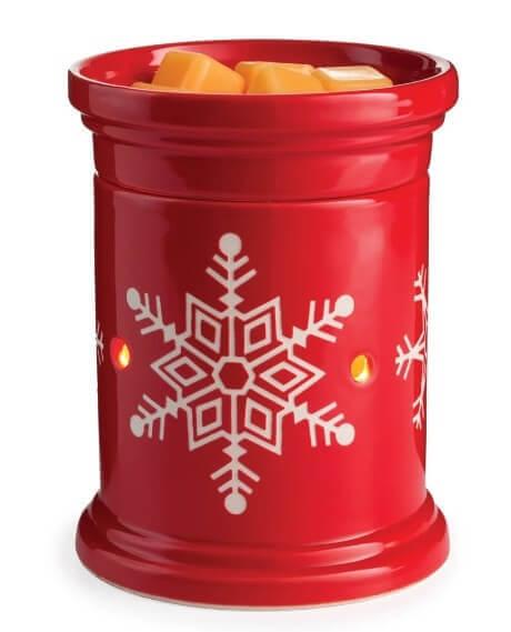 Red Snowflake Duftlampe elektrisch
