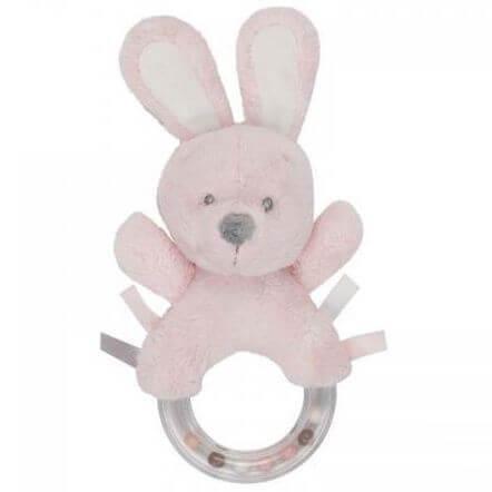 Plüsch Rassel Rabbit Rosa