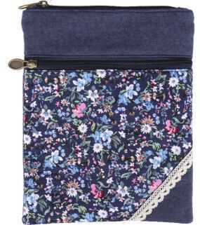 Patchwork Crossbag 177-026 (Navy Flowers)