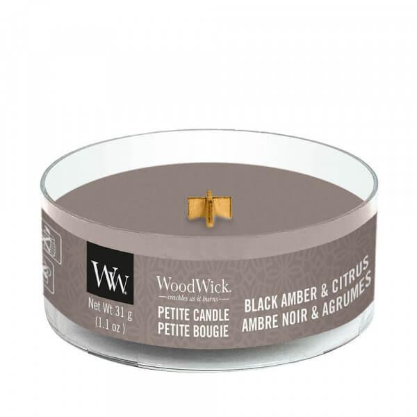 Black Amber & Citrus Petite Candle 31g von Woodwick