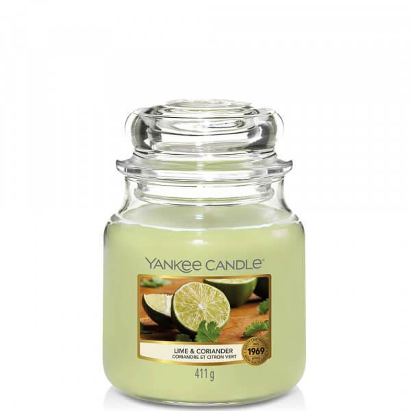 Lime & Coriander 411g mittleres Glas von Yankee Candle