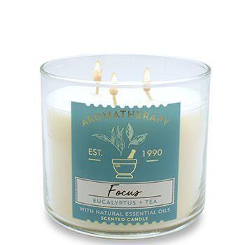 bath body works focus eucalyptus tea candle dream. Black Bedroom Furniture Sets. Home Design Ideas