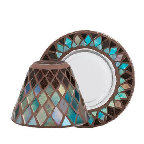 Autumn Mosaic Lampenschirm und Tellerset klein