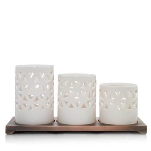 Belmont White Keramik Multi Teelichthalter