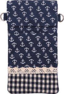 Patchwork Handytasche Umhängetasche (Navy 021)