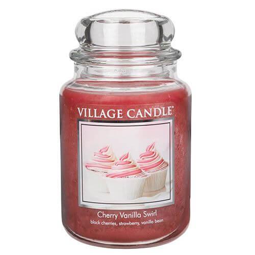 Village Candle Cherry Vanilla Swirl 645g