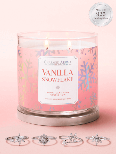 Vanilla Snowflake Kerze (Ring)