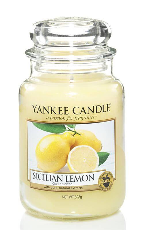 sicilian lemon 623g von yankee candle online bestellen candle dream. Black Bedroom Furniture Sets. Home Design Ideas