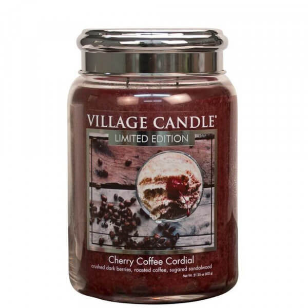 Cherry Coffee Cordial 626g von Village Candle