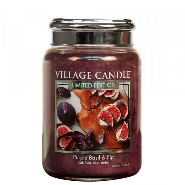 Purple Basil & Fig 626g von Village Candle
