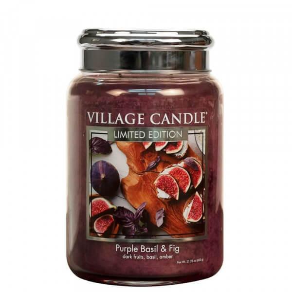 Purple Basil & Fig 626g von Village Candle