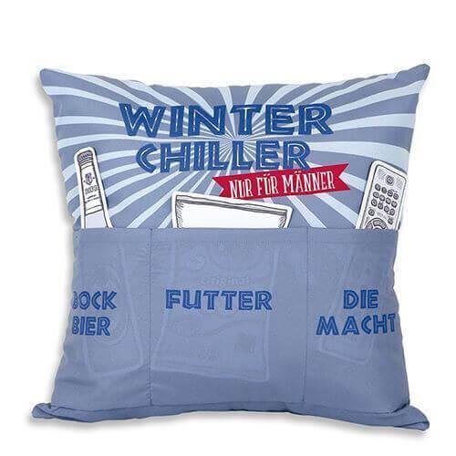 Männerkissen Winter Chiller mit 3 Einstecktaschen
